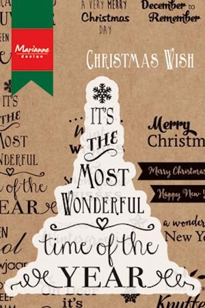 Marianne Design - Clearstamp - Christmas Wish - CS0978