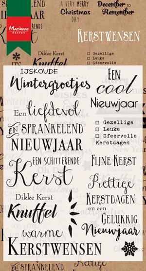 Marianne Design - Clearstamp - Kerstwensen - CS0979