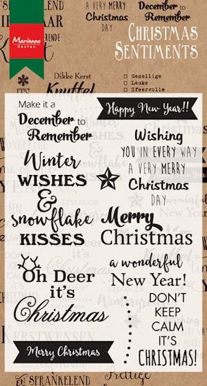 Marianne Design - Clearstamp - Christmas Sentiments - CS0980