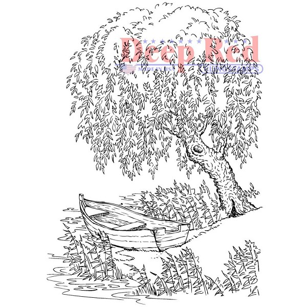 Deep Red - Cling Stamp - Weeping Willow - 4X605570