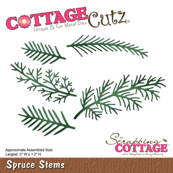 Cottage Cutz - Die - Spruce Stems - CC-182