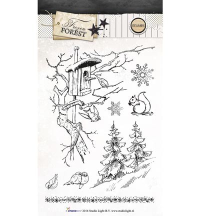 Studio Light - Clearstamp - Frozen Forest - STAMPFF148