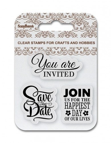 ScrapBerry`s - Clearstamp - Save The Date - SCB4907085