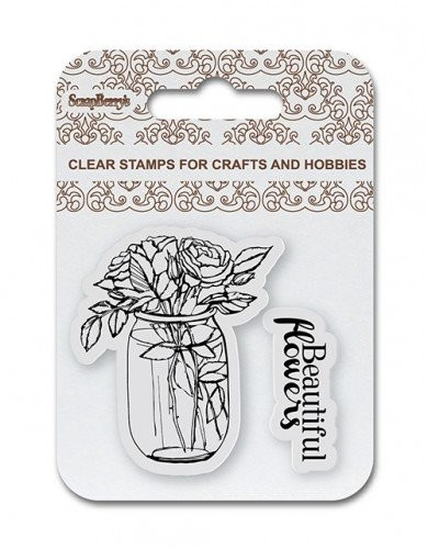 ScrapBerry`s - Clearstamp - Beautiful Flowers - SCB4907080