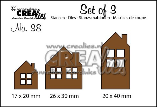 Crealies - Die - Set of 3 - No. 38 - Huisjes