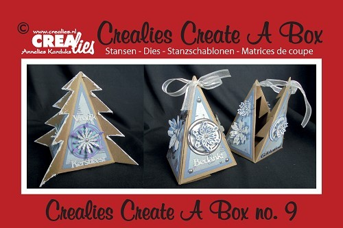 Crealies - Die - Create-A-Box - Driehoek kerstboom - CCAB09