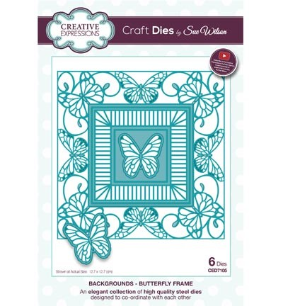 Creative Expressions - Die - The Background Collection - Butterfly Frame - CED7105