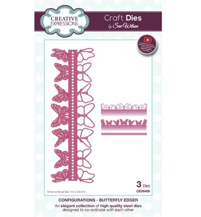 Creative Expressions - Die - The Configurations Collection - Butterfly Edger - CED6409