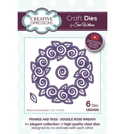Creative Expressions - Die - The Frames & Tags Collection - Doodle Rose Wreath