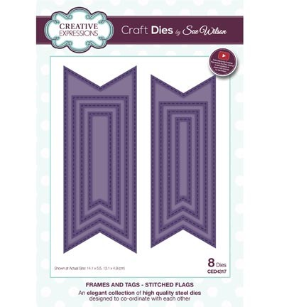 Creative Expressions - Die - The Frames & Tags Collection - Stitched Flags - CED4317