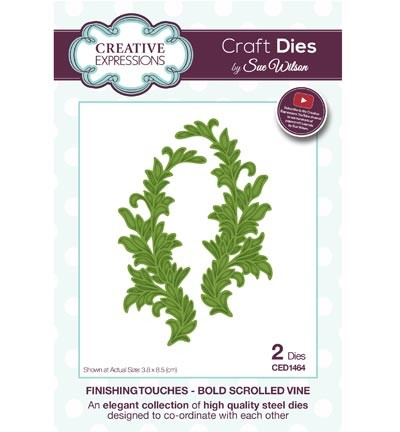 Creative Expressions - Die - The Finishing Touches Collection - Bold Scrolled Vine