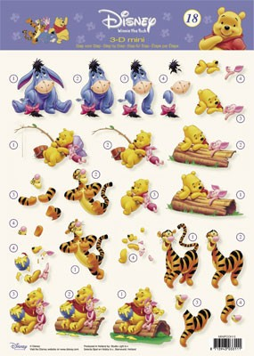 Studio Light - Disney - 3D-knipvel A4 - Pooh 3-D mini - MINIPOOH18