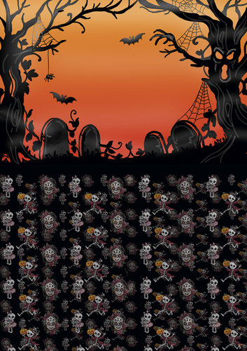 Yvonne Creations - Achtergrondpapier - Happy Halloween - BGS10013