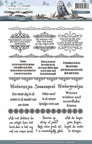 Amy Design - Clearstamp - Wintertide - Tekst - ADCS10012