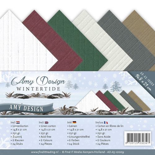 Card Deco - LinnenArt (A5) - Amy Design - Wintertide