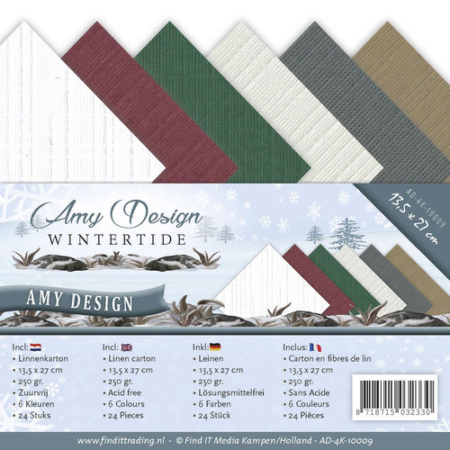 Card Deco - Linnenpakket (13,5 x 27cm) - Amy Design - Wintertide