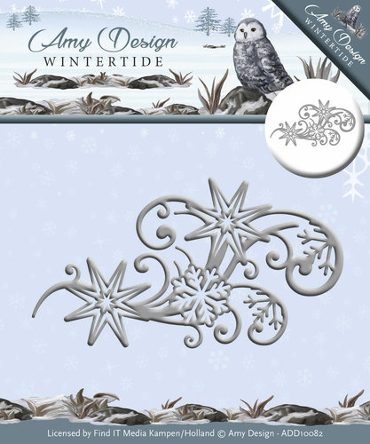 Card Deco - Amy Design - Die - Wintertide - Ice Crystal Swirl