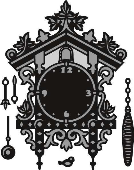 Marianne Design - Die - Craftables - Cuckoo Clock - CR1388