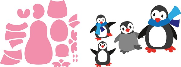 Marianne Design - Die - Collectables - Eline`s Penguin - COL1416