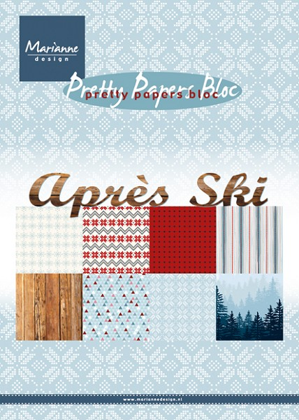 Marianne Design - Paperpack - Pretty Papers - Apres Ski - PK9142