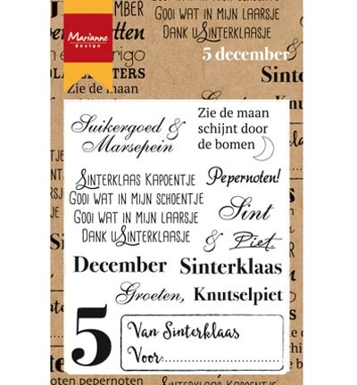 Marianne Design - Clearstamp - 5 December - CS0982