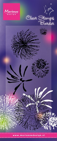 Marianne Design - Tiny`s - Clearstamp - Tiny`s Fireworks - TC0845