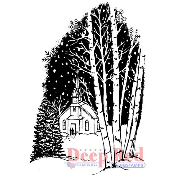 Deep Red - Cling Stamp - Christmas Eve - 3X505560