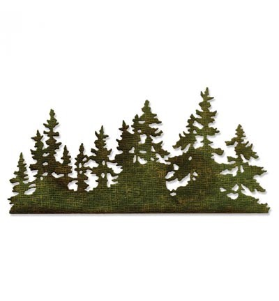 Sizzix - Die - Thinlits - Tree Line - 661604