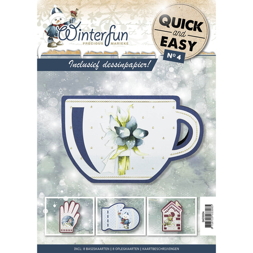 Card Deco - Quick and Easy 04 - Precious Marieke - Winterfun - QAE10004