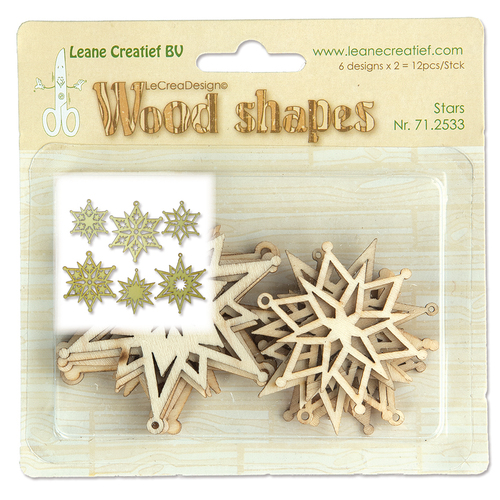Leane Creatief - Wooden Ornaments - Stars - 71.2533