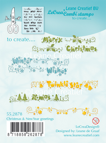 Leane Creatief - Clearstamp - Christmas & New Year Greetings - 55.2878