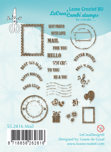 Leane Creatief - Clearstamp - Mail - 55.2816