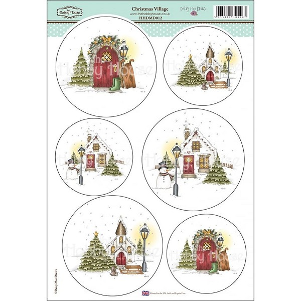 The Hobby House - Daisy Mae - (3D-)Stansvel A4 - Christmas Village - HHDMD012