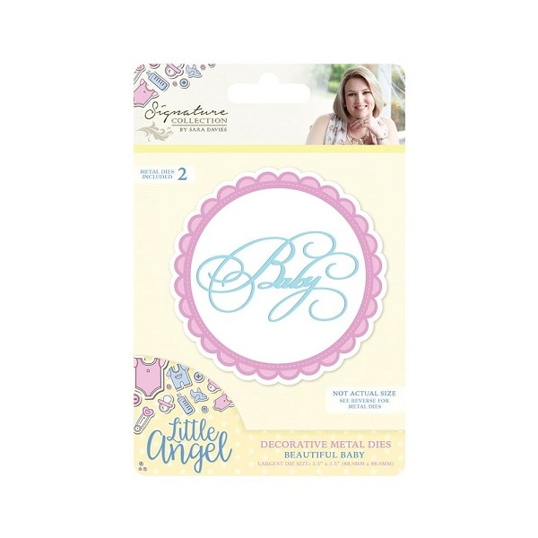 Crafter`s Companion - Sara Davies - Die - Little Angel - Beautiful Baby - S-LA-MD-BAB