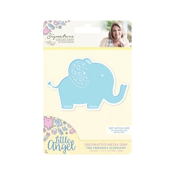 Crafter`s Companion - Sara Davies - Die - Little Angel - The Friendly Elephant