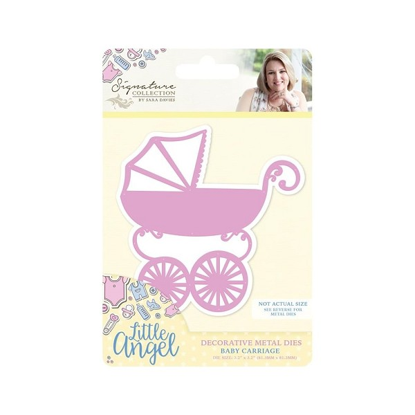 Crafter`s Companion - Sara Davies - Die - Little Angel - Baby Carriage - S-LA-MD-CAR