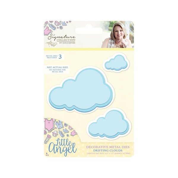 Crafter`s Companion - Sara Davies - Die - Little Angel - Drifting Clouds