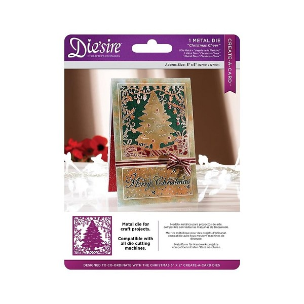 Die`sire - Die - Create-A-Card - Christmas Cheer - DS-CADX-CHEER