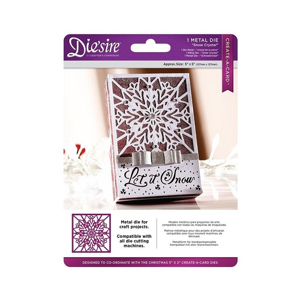 Die`sire - Die - Create-A-Card - Snow Crystal - DS-CADX-CRYST