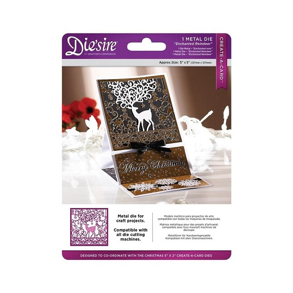 Die`sire - Die - Create-A-Card - Enchanted Reindeer - DS-CADX-ENREI
