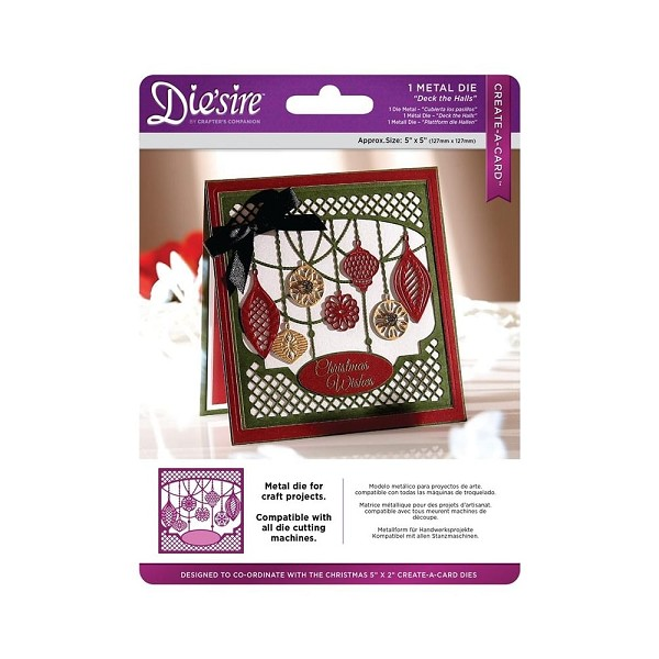 Die`sire - Die - Create-A-Card - Deck the Halls - DS-CADX-HALLS
