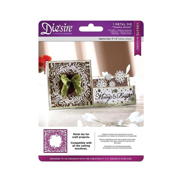 Die`sire - Die - Create-A-Card - Timeless Wreath - DS-CADX-WREATH