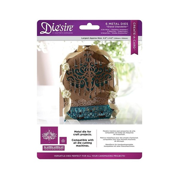 Die`sire - Die - Create-A-Card - Grand Chandelier - DS-CAD-CHA