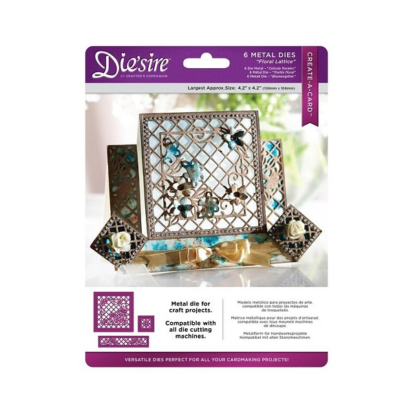 Die`sire - Die - Create-A-Card - Floral Lattice