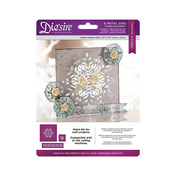 Die`sire - Die - Create-A-Card - Ornate Snowflake - DS-CADX-SNOW