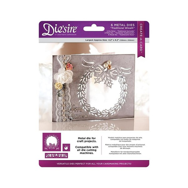 Die`sire - Die - Create-A-Card - Traditional Wreath - DS-CADX-TRAD