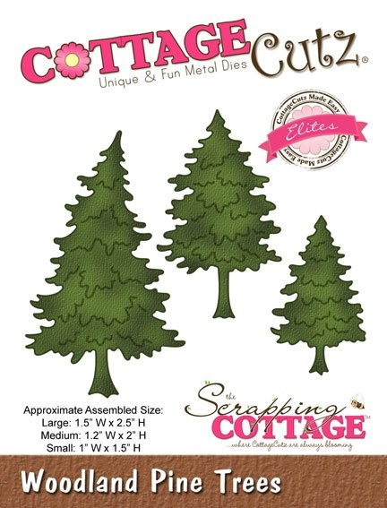 Cottage Cutz - Die - Woodland Pine Trees - CCE-085