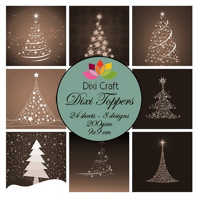 Dixi Craft - Paperpack - Christmas Trees: Sepia - ET0282