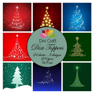 Dixi Craft - Paperpack - Christmas Trees - ET0281