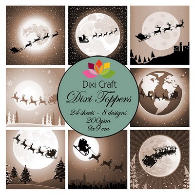 Dixi Craft - Paperpack - Christmas Sleigh: Sepia - ET0280